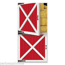 BARNYARD Country Farm RED BARN DOOR wall COVER Party Decoration PHOTO BOOTH