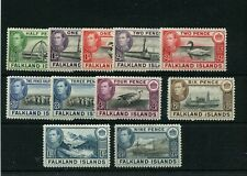 FALKLAND ISLANDS MINT hinged #84 - 91 Cat Value $67 Worldwide stamps