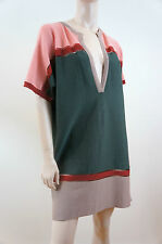 M MISSONI Green Rust Beige Peach Multi Colour Knitwear Tunic Dress UK12 IT44