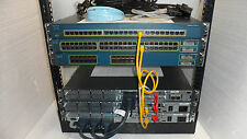 Complete Cisco CCENT CCNA CCNP  2811 2650  WS-3560-24PS-S FREE RACK 12U