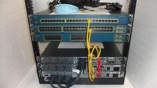 Complete Cisco CCENT CCNA CCNP  2811 2610XM 2610 WS-3550-24-SMI FREE RACK 12U