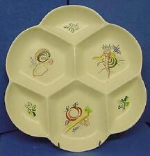 POOLE POTTERY KUB VEGETABLES PATTERN ROUND 6 SECTION HORS D'OEVRES DISH (931)