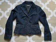 ANN TAYLOR Structured Denim Cotton Blend Blazer Jacket Size 0, XS