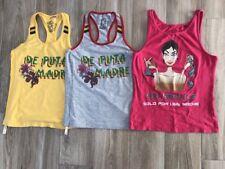 3 er Set De Puta Madre Shirt, Top, Oberteil, Damen, Gr. S/M, 36/38