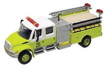 HO Scale International 2-Axle Crew Cab Fire Truck - FD Yellow - Boley #4172-87