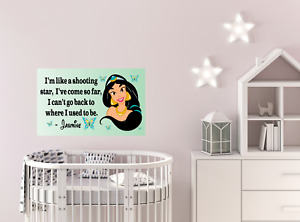 Wall sticker positive quote poster Princess Jamine vinyl kids decor