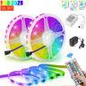 32.8 Feet RGB 3528 Flexible Led Strip Lights SMD 44 Key Remote 12V DC Power Kit