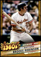 Brooks Robinson 2020 Topps Decade's Best Series 2 5x7 Gold #DB-23 /10 Orioles