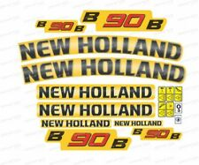 New Holland B90B Backhoe Decals / Adhesives / Stickers ( Complete Set / Kit )