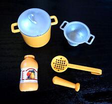 Barbie Accessories Food Spaghetti Sauce Pasta Kitchen Cooking Utensils Jar