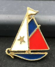 Vintage Sail Boat Brooch Pin