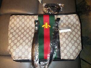 Leather DesignerTote Handbag