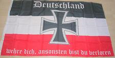 3943  Fahne Flagge Eisernes Kreuz Deutschland, wehre dich 150 x 90
