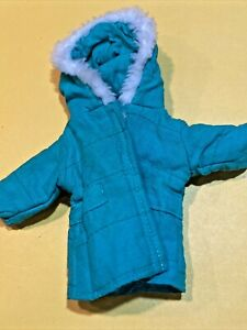 """Barbie Clone Vintage Green winter Coat/jacket- """"as Is"""" Auction Special 1/6 🌲"""