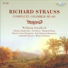 Sealed/NEW 9 CDs Richard Strauss Complete Chamber Music WOSKA Ritzkowsky cello