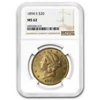 1894-S $20 Liberty Gold Double Eagle MS-62 NGC - SKU#19264