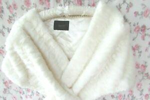 BNWOT Ivory ELAYNE Fur Stole SHAWL Jacket Shrug Bolero 8/10/12/14 Coast €79