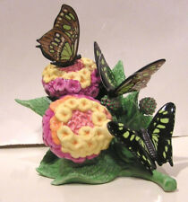 LENOX MALACHITE MASTERPIECE BUTTERFLY New in Box with COA Lantana Camara Flower