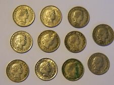 SWITZERLAND NICE 5 RAPPEN COLLECTION 1897-1942 11-COINS FREE FAST SHIP!!!