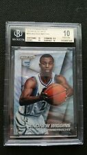 ANDREW WIGGINS 2014-15 PANINI PRIZM BLUE WAVE ROOKIE REFRACTOR BGS 10! RC SP#251