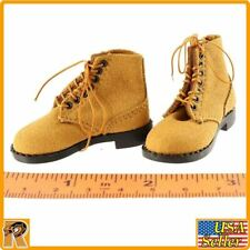 WWII US Army - Leather Boots (for Feet) - 1/6 Scale - Alert Line Action Figures