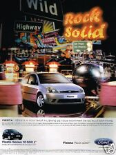 Publicité advertising 2004 Ford Fiesta Senso