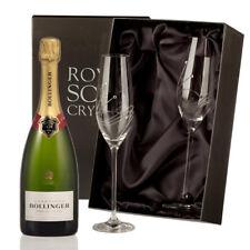 Bollinger Brut Champagne with Swarovski Crystal Flutes