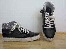 ** Esprit ** high top Sneaker   Gr. 37 schwarz weiß grau   Variabel tragbar