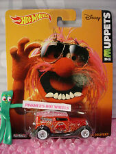 2014/2015 Muppets Animal '34 FORD SEDAN DELIVERY✰Red;Whitewall✰Hot Wheels Pop