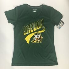 Oregon Ducks Green V Neck T Shirt Womens Juniors size Large 11/13