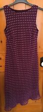 Dorothy Perkins Size 12 Dress Sleeveless Purple Pink Spotty Polka Dot Spotted B3