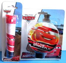 NEW Disney Pixar Cars Night Light & Led Flashlight Set