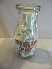 Vintage Kimberland Dairy 1/2 Pint ilk Bottle Nice!!