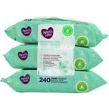 720 Wipes Parent's Choice Fragrance Free Unscented Baby Wipes (9 Packs of 80)