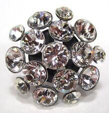 SoHo® Ring Blume geschliffene Kristalle crystal großer Strassring Glitzer Strass