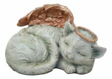 """Ebros Heavenly Halo Angel Cat Urn for Ashes Statue 7.5"""" Wide Pet Memorial"""