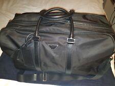 Prada Mens Holdall Manbag Nylon With Saffiano Leather Trim