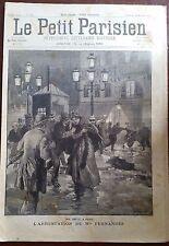 Le petit parisien 29/11/1891; l'arrestation de Mlle Fernandez/ Abandonné en mer