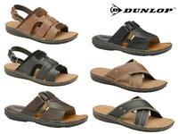 Mens Summer Sandals Faux Leather Memory Foam Mules Flip Flops Walking Shoes