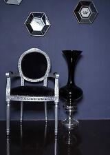 Französisch Louis Sessel silber schwarz Shabby Chic Antik Stil Schlafzimmer