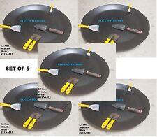 Costruttori di miscelazione VASSOI Cemento Gesso PASTA rotonda Ciotole grandi in plastica Disc Set 5