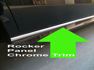 FOR MITSUBISHI 2002-2018 Models ROCKER PANEL Body Side Molding CHROME Trim 2pc