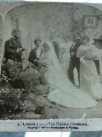 Antique Stereoview Card Photo CONNECTED- THE NUPTIAL CEREMONY