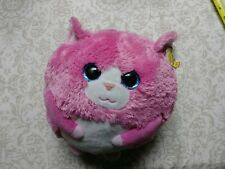 "TY Beanie Ballz TUMBLES THE PINK CAT 8"" Plush Toy cute so soft Vtg vintage kitty"
