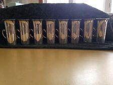 Antique Sterling Silver Loring Andrews Irish Coffee Mugs vase w/ Crest c.1920