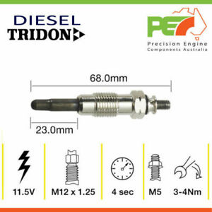 New * TRIDON * Glow Plug For Ssangyong Korando Musso 2.9 - Turbo Diesel