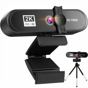 2K 1080P Full HD Webcam AF Autofocus for PC Laptop Web Camera with Microphone