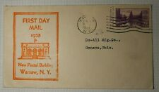 New Postal Building 1st Day Mail Sc# 750a Event Cover 1935