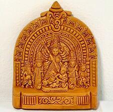 Handmade KrishClay Terracota Maa Durga Idol Wall Hanging Gift Hindu Shakti