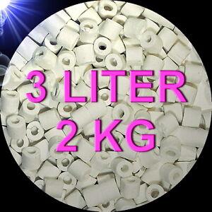TOP 🍀 FILTERKERAMIK 2 KG 3 LITER 🍀 Tonröhrchen Aquarium Zubehör Filtermaterial